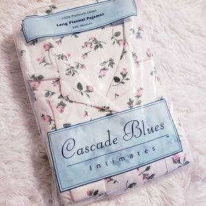 Long Flannel flower pajamas!